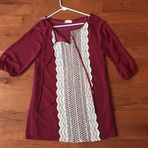 altar'd state maroon dress with beautiful pattern